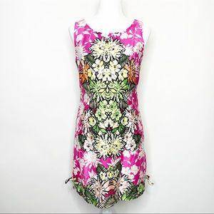 Tiana B Floral Kaleidoscope Tropical Shift Dress